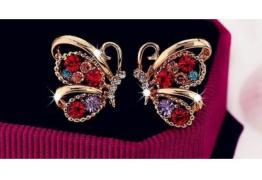 Модни кристални многоцветни обици