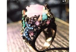 Марков пръстен черно злато и диаманти